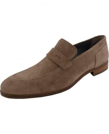Hugo Beige 50310010 C-Modelo Suede Loafer Shoe