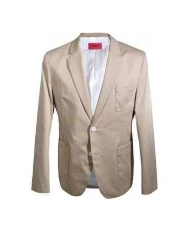 Hugo Beige Adio-W Single Vent Jacket