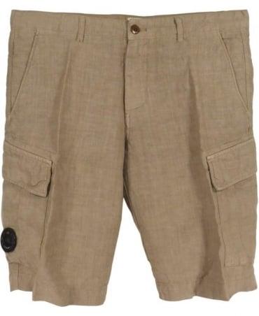 CP Company Beige Bermuda Tasconato P02336 Shorts