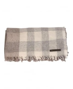 Hugo Boss Beige & Brown Check Scarf