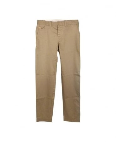 Beige Button Fly Chinos