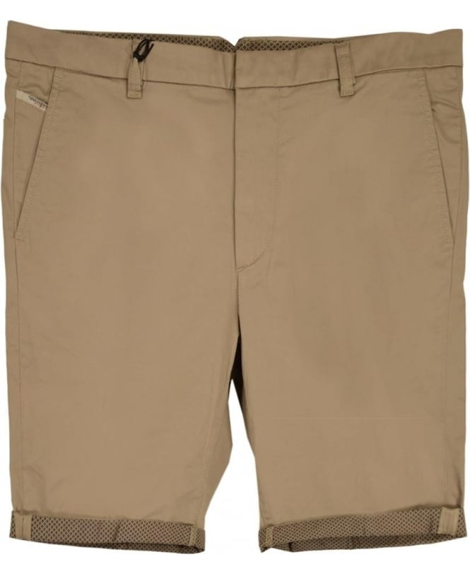 Diesel Beige Chi-Drive-Sho-Roll Stretch Cotton Shorts