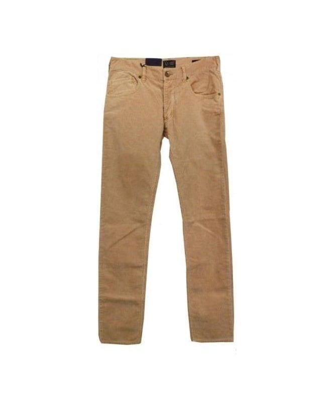 Armani Jeans Beige Corduroy Slim Fit J23 Jeans