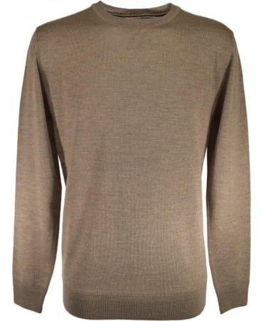 Scotch & Soda Beige Crew Neck 101659 Knit