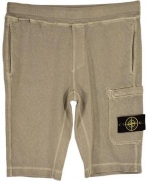 Stone Island Beige Fleece Drawstring Shorts