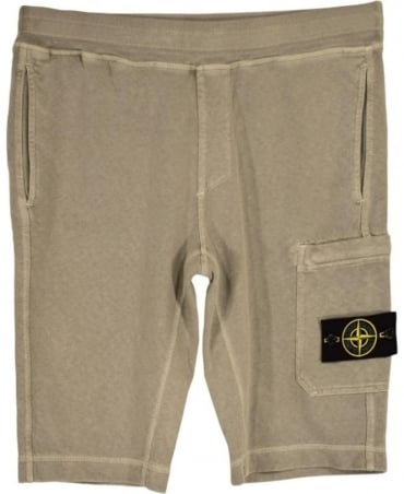 Stone Island Beige Fleece Drawstring Shorts