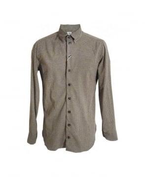 Armani Collezioni Beige Gingham Check Shirt