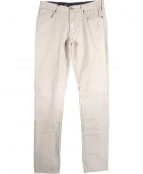 Armani Jeans Beige J06 Slim Fit Fine Cords