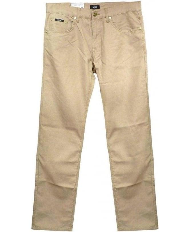 Hugo Boss Beige Maine 1 Regular Fit Jeans