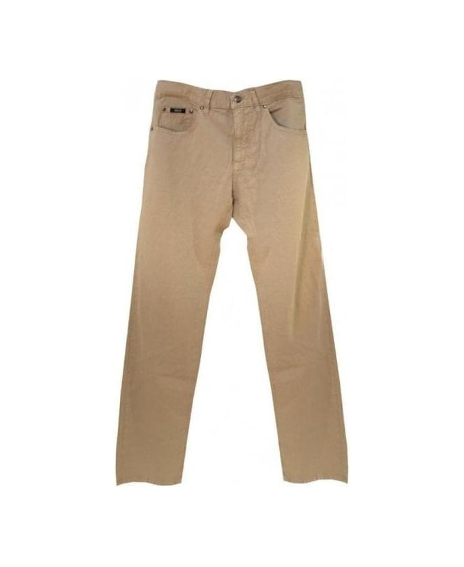 Hugo Boss Beige Maine Regular Fit Jeans