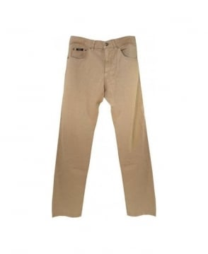 Hugo Boss Beige Maine Regular Fit Jeans