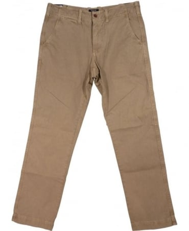 Beige New Haven Twill Regular Fit Chino