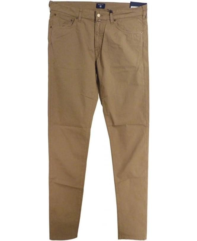 Gant Beige Regular Straight Micro Twill Jean