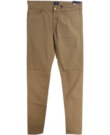 Gant Beige Regular Straight Micro Twill Jean