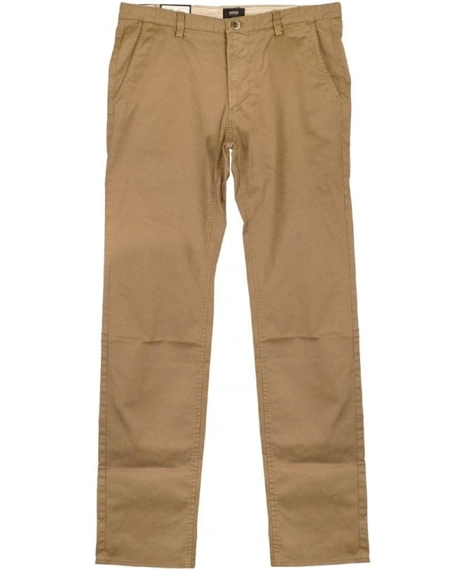 Hugo Boss Beige Rice Chino Slim Fit Trousers