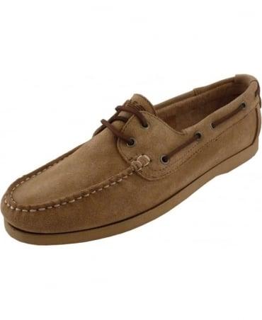 Armani Beige Suede C6573 Boat Shoe