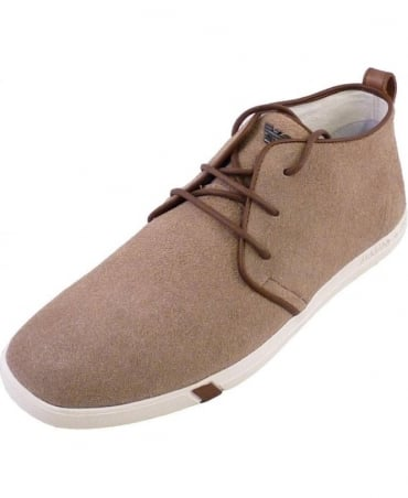 Armani Beige Suede V6545 43 Trainers