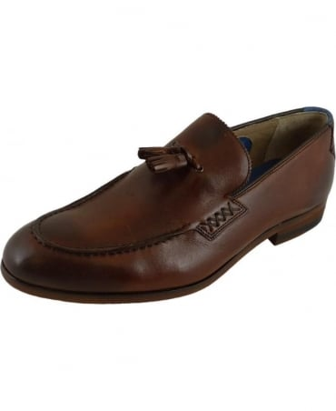 Belton Chestnut Leather Tassel Loafer
