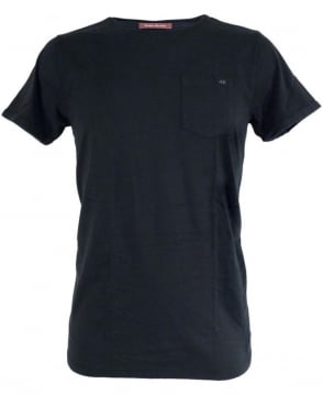 Scotch & Soda Black 125085 Dyed Crew Neck T-shirt