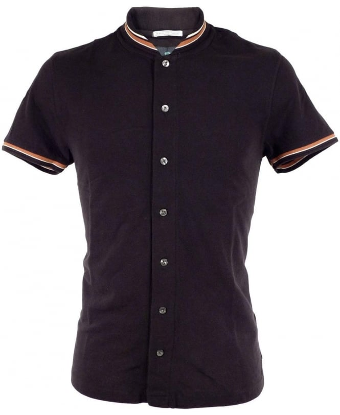 Scotch & Soda Black 1501-04.21117 Full Button Trim Polo