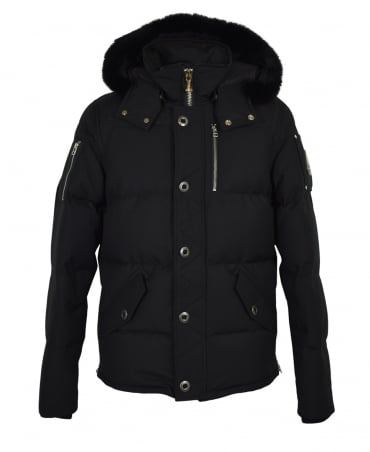 Moose Knuckles Black 3/4 Weatherproof Jacket