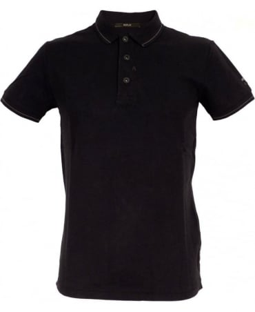 Replay Black 3 Buttoned Polo Shirt