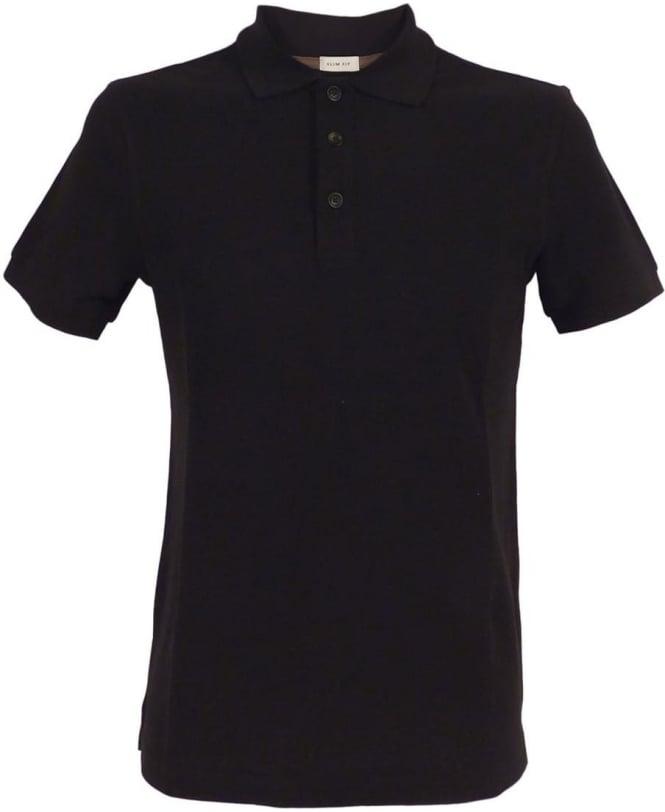 Armani Black 3XCF89 Short Sleeve Polo