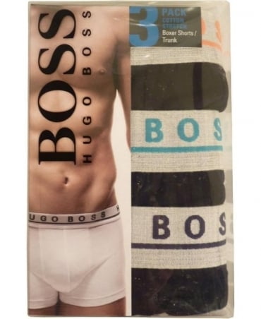 Hugo Boss Black 50271738 Grey Waistband 3 Pack Boxer
