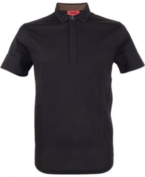 Hugo Black 50315197 Dellos Contrast Trim Polo