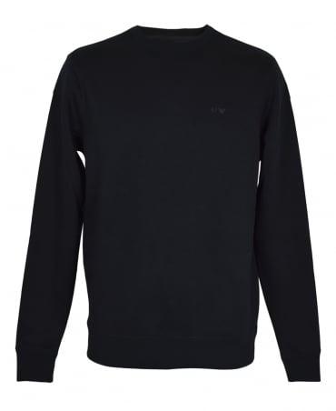 Armani Jeans Black 8N6M19 Crew Neck Sweatshirt