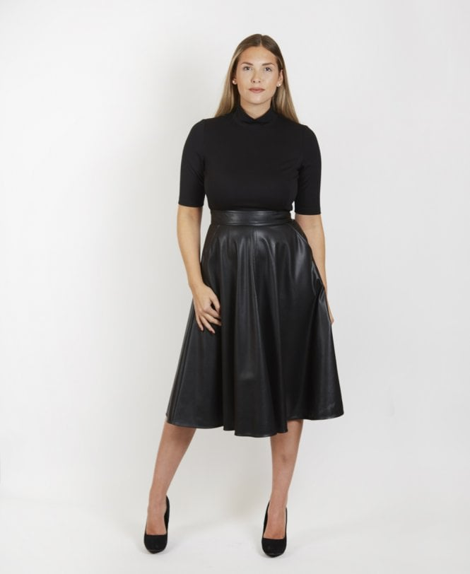 cef19fe271f ... Faux Leather Dress · Black   039 Agone  039  ...