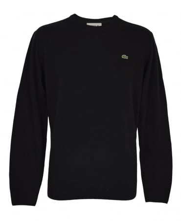Lacoste Black AH2995 Crew Neck Jumper