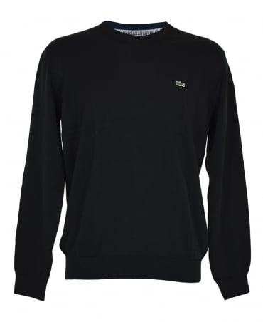 Lacoste Black AH7371 Crew Neck Knitwear