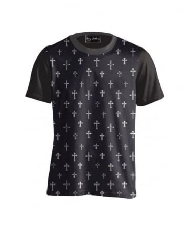 Serge DeNimes Black All Over Cross T-Shirt