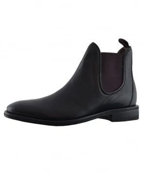 Oliver Sweeney Black Allegro Chelsea Boot