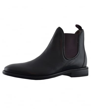 Oliver Sweeney Black Allegro Chelsea Boot