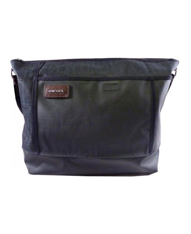Diesel Black And Charcoal Cross Bag