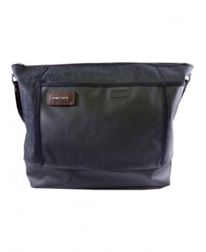 Diesel Black And Charcoal Cross Bag