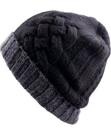 Paul Smith  Black And Grey Cable Knit ANXA-650C-H264 Beanie Hat
