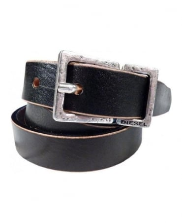 Diesel Black And Tan Bones Belt