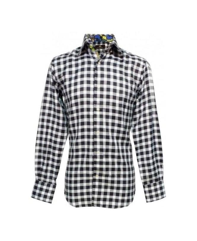 Circle Of Gentlemen Black And White Check Geoffrey Shirt