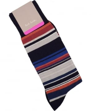 Paul Smith - Accessories Black APXA-380A-K198 Skinny Stripe Socks