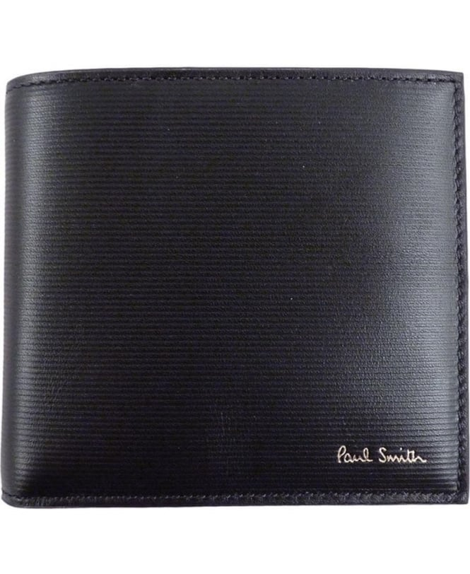 Paul Smith - Accessories Black APXA-48362-W754 Saffiano Damson Interior Wallet