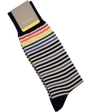 Paul Smith - Accessories Black APXA-800E-K138 PS Fine Stripe Socks