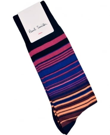 Paul Smith  Black ARXC-380A-F961 Higgle Stripe Socks