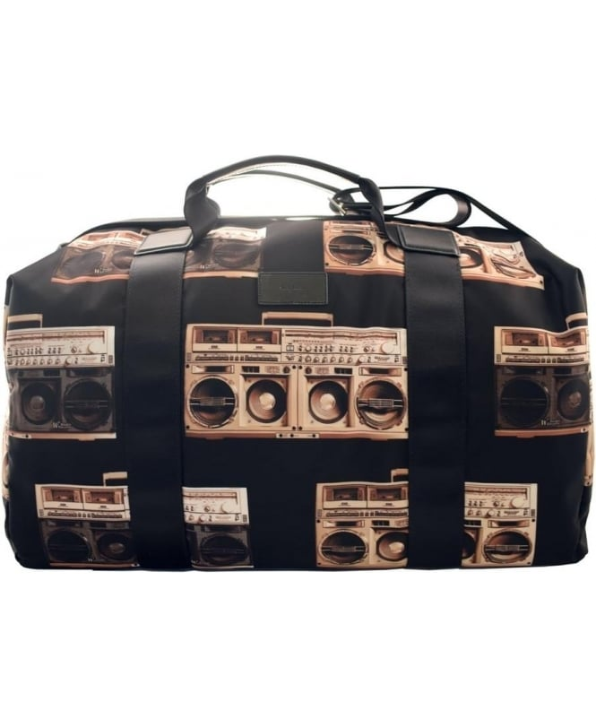 Paul Smith Black ARXC-4853-L790 Ghetto Blaster Print Holdall Bag
