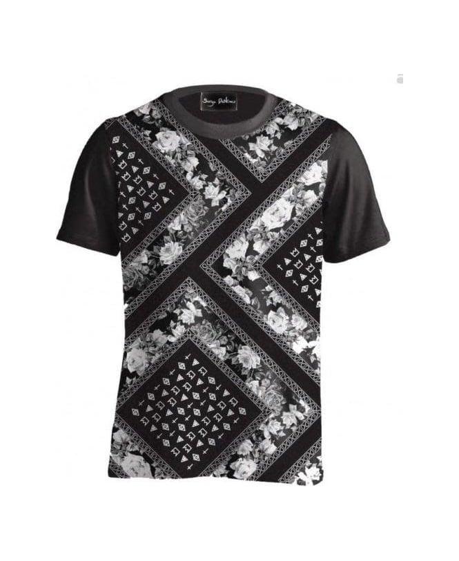 serge denimes black bandana print t shirt serge denimes. Black Bedroom Furniture Sets. Home Design Ideas
