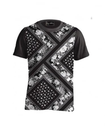 Serge DeNimes Black Bandana Print T-Shirt