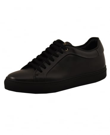 Paul Smith  Black Basso Leather Trainer