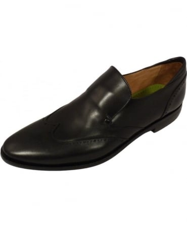 Oliver Sweeney Black Brogue Bisenti Slip On Shoe